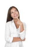Denkende vrouw stock fotografie