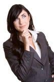 Denkende Vrouw stock afbeelding