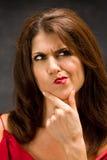 Denkende vrouw Royalty-vrije Stock Foto's