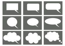 Denkende wolken, de bellen van het praatjebeeldverhaal royalty-vrije illustratie