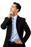 Denkende zakenman Stock Fotografie
