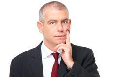 Denkende zakenman stock foto