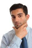 Denkende zakenman royalty-vrije stock foto