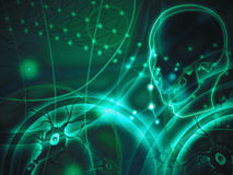 Denkender abstrakter Hintergrund Lizenzfreie Abbildung