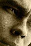 Denkender flüchtiger Blick Stockfotografie