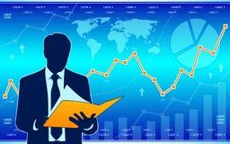 Denkender Geschäftsmann Stockfoto