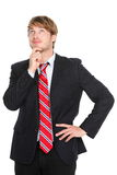Denkender Geschäftsmann Lizenzfreie Stockfotos