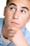 Denkender Junge Stockbild