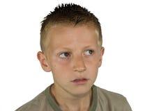 Denkender Junge Stockfoto