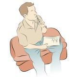 Denkender Mann beim Schreiben Lizenzfreies Stockbild