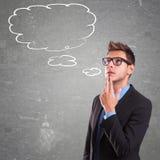 Denkender Mann mit Spracheblase Lizenzfreie Stockfotografie
