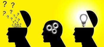Denkender Prozess Stockbild
