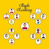 Denkendes Design der Leute Lizenzfreies Stockbild