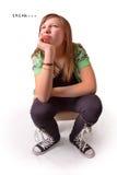 Denkendes Mädchen stockfotografie