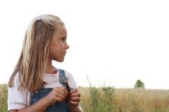 Denkendes Mädchen Lizenzfreies Stockbild