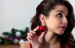 Denkendes Weihnachten lizenzfreies stockfoto