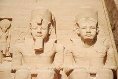 Denkmäler in Abu Simbel Stockfotos