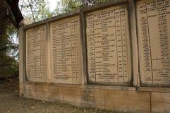 Denkmäler der Zahlen des Schrots in Bharatpur, Indien lizenzfreies stockfoto