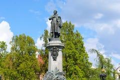 Denkmal Adam-Mickiewicz Stockfotos