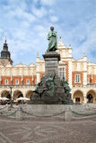Denkmal Adam-Mickiewicz in Krakau Stockfoto