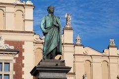 Denkmal Adam-Mickiewicz in Krakau Lizenzfreie Stockfotos