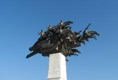 Denkmal auf Gundogdu Quadrat in Izmir stockbilder