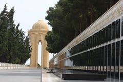 Denkmal in Baku lizenzfreie stockfotografie