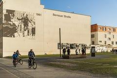 Denkmal in Bernauer-strasse Lizenzfreie Stockfotografie