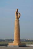 Denkmal, bevor Echmiadzin betreten wird stockbild