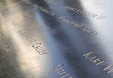 Denkmal am Bodennullpunkt in NYC Stockbilder
