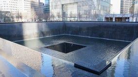 911 Denkmal-Brunnen New York, Manhattan stockfotos
