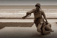 Denkmal der alliierten Streitkräfte des Invasionstags in Normandie Stockbild