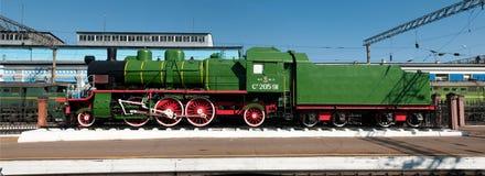 Denkmal der alten Dampflokomotive Stockbild