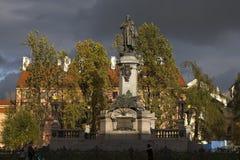 Denkmal des Dichters Adam Mickiewicz Lizenzfreie Stockbilder