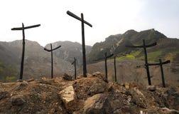 Denkmal des Erdbebens 5.12 Stockfoto