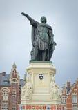 Denkmal des flämischen Politikers 13-14 Jahrhunderte Jacob van Artevelde Stockbild
