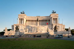 Denkmal des Vittorio Emanuele II Stockbilder