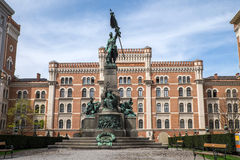 Denkmal Deutschmeister (deutscher Meister) in Wien stockfotos