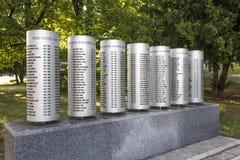 Denkmal für die Kinder getötet während der Belagerung von Sarajevo Lizenzfreie Stockbilder