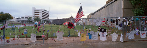 Denkmal für Oklahoma- Citybombardierung 1995 Stockbilder