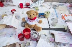 Denkmal für das Opfer am 14. Juli, Nizza, Frankreich Lizenzfreie Stockfotos