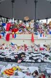 Denkmal für das Opfer am 14. Juli, Nizza, Frankreich Stockbild