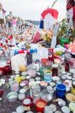 Denkmal für das Opfer am 14. Juli, Nizza, Frankreich Lizenzfreie Stockbilder