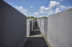 Denkmal futerka kostka do gry Juden ermordeten Europa pomnika Mordujący żyd Europa Fotografia Stock