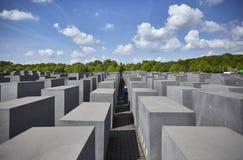 Denkmal futerka kostka do gry Juden ermordeten Europa pomnika Mordujący żyd Europa Zdjęcie Stock