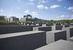 Denkmal futerka kostka do gry Juden ermordeten Europa pomnika Mordujący żyd Europa Obrazy Stock