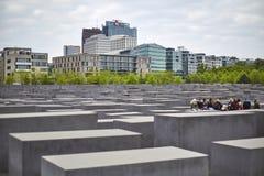 Denkmal futerka kostka do gry Juden ermordeten Europa pomnika Mordujący żyd Europa Zdjęcia Royalty Free