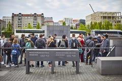 Denkmal futerka kostka do gry Juden ermordeten Europa pomnika Mordujący żyd Europa Zdjęcie Royalty Free