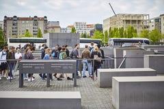 Denkmal futerka kostka do gry Juden ermordeten Europa pomnika Mordujący żyd Europa Zdjęcia Stock