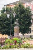Denkmal Generals Seslavin in der Stadt von Rzhev, Tver-Region, Russland Lizenzfreie Stockfotos